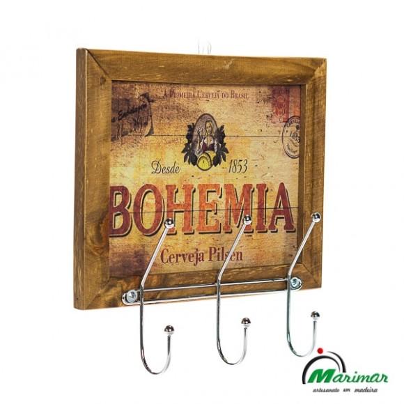 MOLDURA DECORATIVA COM SUPORTE CROMADO BOHEMIA