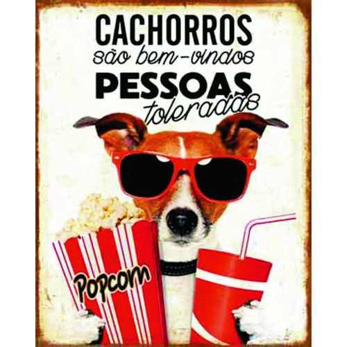 Placa Decorativa 19x24 Cachorros Sao Bem Vindos 2