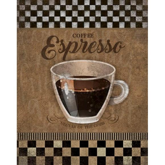 PLACA DECORATIVA 19X24 CAFE COFFEE ESPRESSO