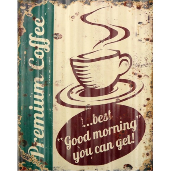 PLACA DECORATIVA 19X24 CAFE PREMIUM COFFEE