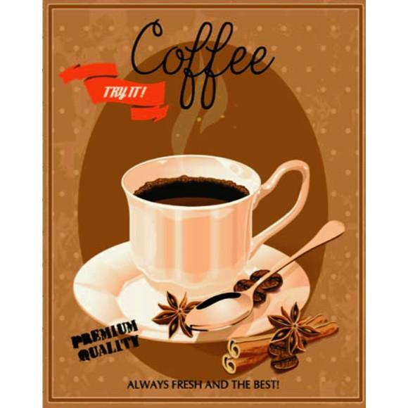 PLACA DECORATIVA 19X24 CAFE COFFEE