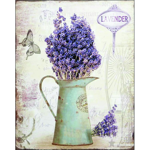 PLACA DECORATIVA 19X24 LAVANDA