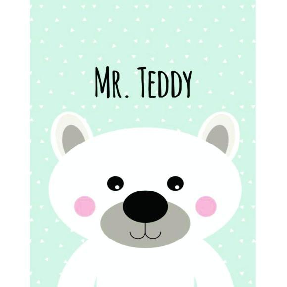 PLACA DECORATIVA 19X24 MISTER TEDDY