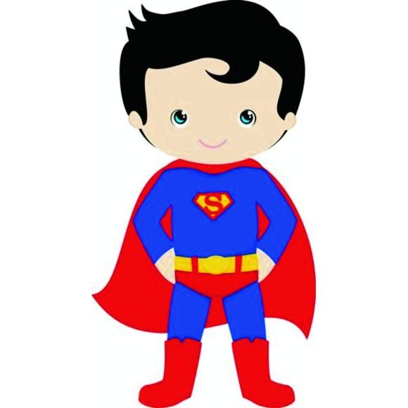 PLACA DECORATIVA 19X24 HEROIS SUPERMAN