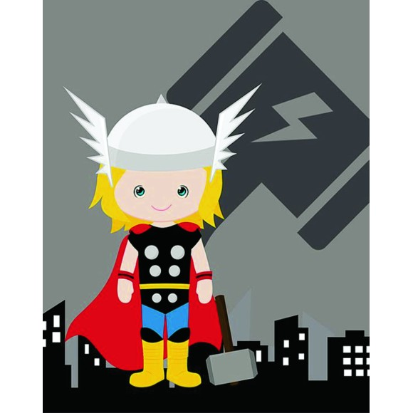 PLACA DECORATIVA 19X24 HEROIS THOR