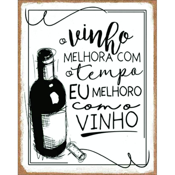 PLACA DECORATIVA 19X24 VINHO03