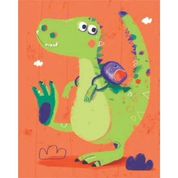 PLACA DECORATIVA 19X24 LARANJA DINO 02