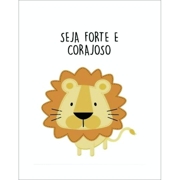 PLACA DECORATIVA 19X24 1 SAFARI LEÃO