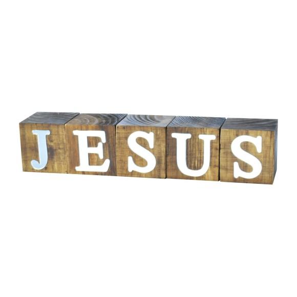CUBOS JESUS ESPELHADO PINUS LUXO