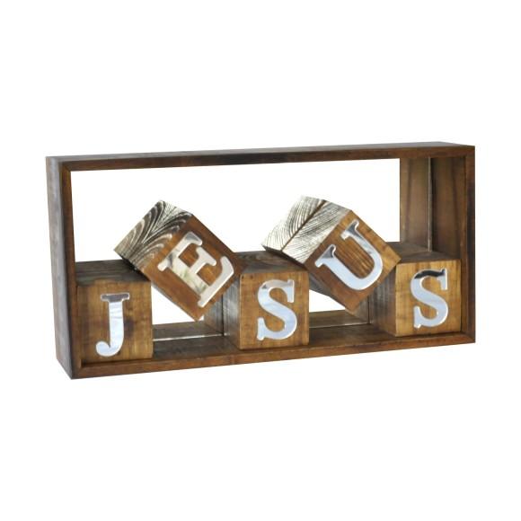 NICHO CUBOS JESUS ESPELHADO PINUS LUXO