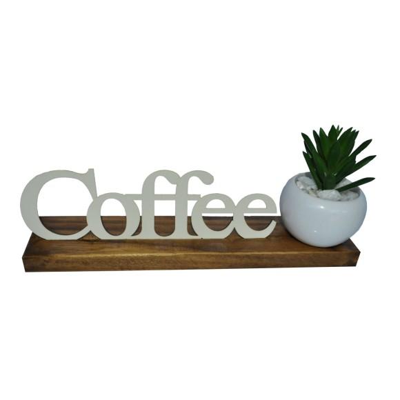 BASE MAIOR PALAVRA COFFEE PINUS LUXO